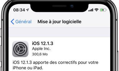 Mises à jour disponibles : iOS 12.1.3 pour iPhone et iPad ainsi que watchOS 5.1.3 et tvOS 12.1.2 15
