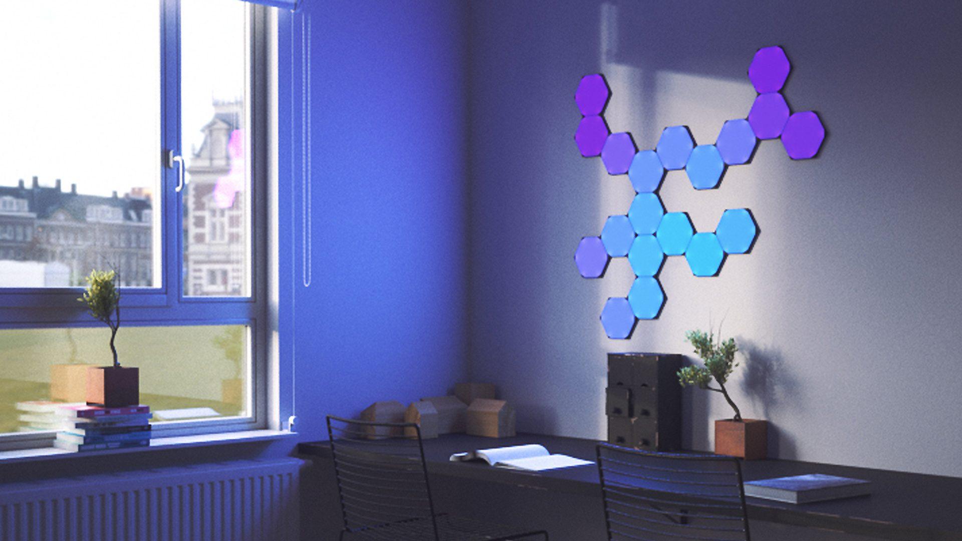 Les tuiles lumineuses Nanoleaf se déclinent en version hexagonale, toujours compatibles HomeKit 1