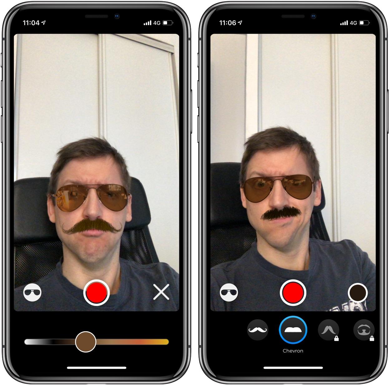 Faites-vous pousser la moustache en Réalité Augmentée sur iPhone X, XS, XR et iPad Pro avec Real Mustache AR 1