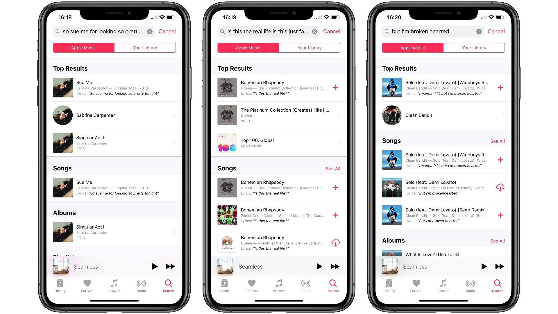 Les paroles de chansons désormais disponibles dans Apple Music en France notamment 1