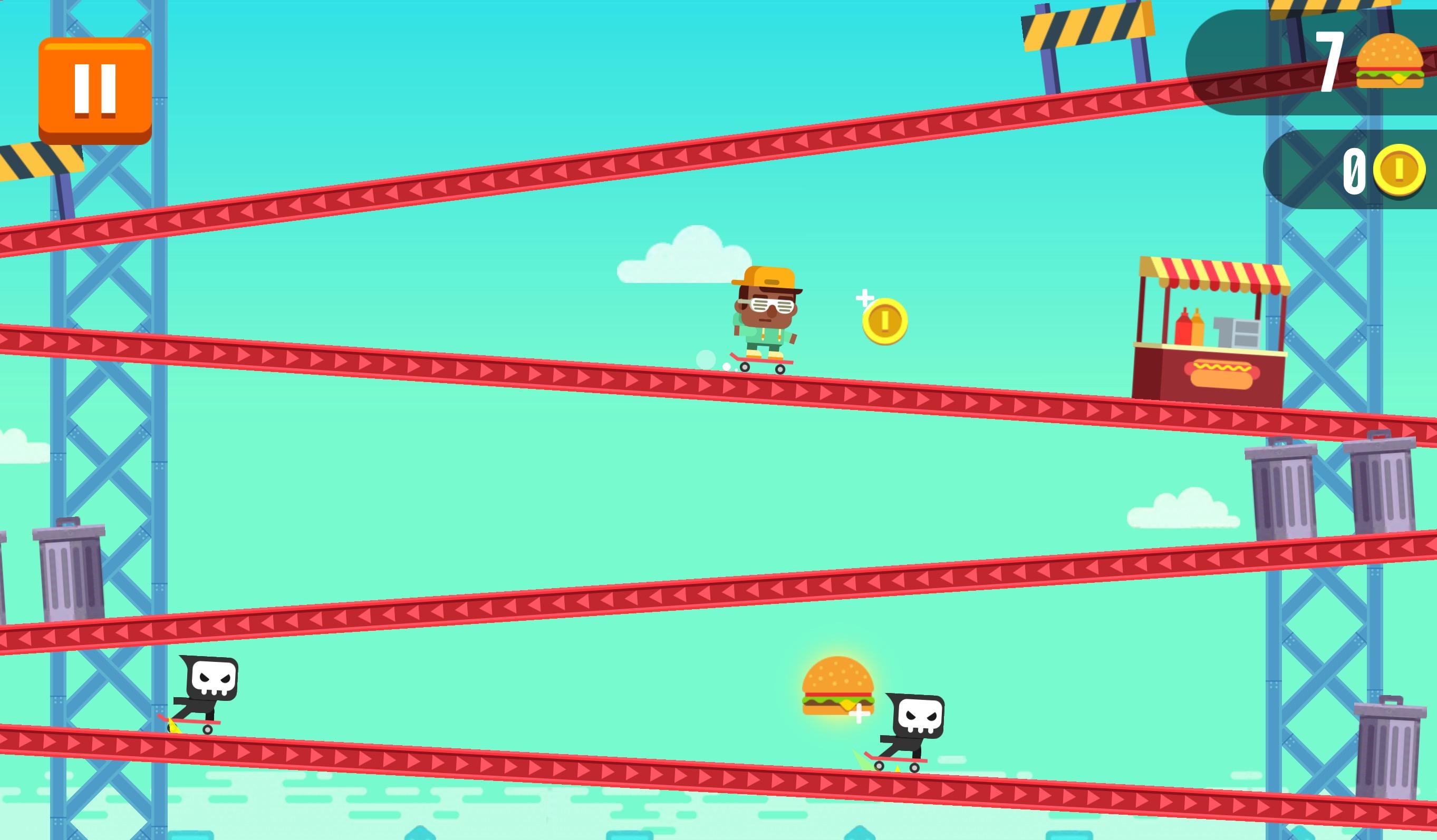 Défiez des pentes en skate à fond, dans l'amusant Tap Skaters, nouveau jeu iPhone, iPad 1