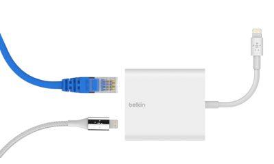 Belkin sort un adaptateur Lightning / réseau Ethernet pour iPhone et iPad 2