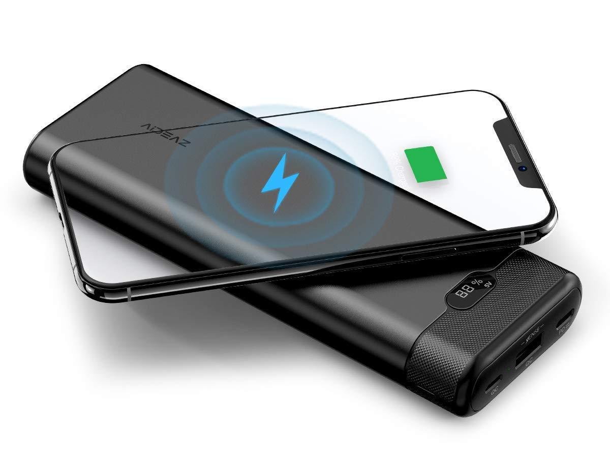 Promo flash : batteries Qi avec afficheur numérique et sortie USB-C PD, en capacités 10 000 et 20 000 mAh 1