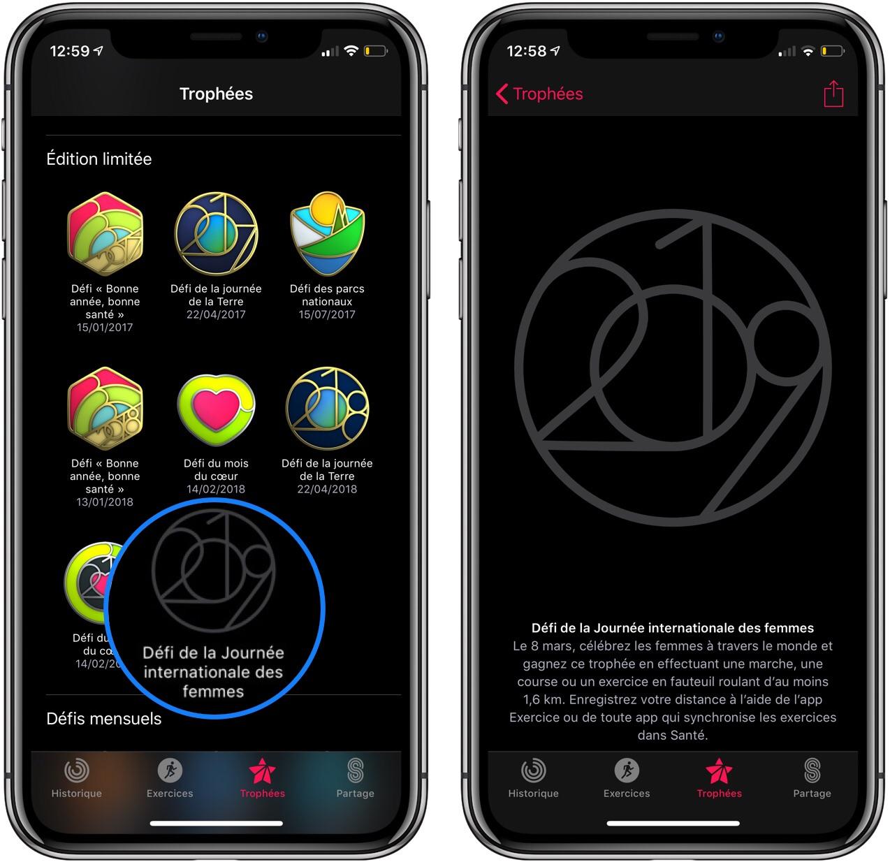 Rappel  : le challenge Apple Watch pour la journée mondiale de la femme, c'est aujourd'hui 8 mars ! 1
