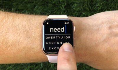 Les apps Apple Watch ont désormais la possibilité d'intégrer un clavier avec FlickType 7