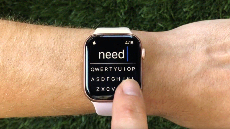 Les apps Apple Watch ont désormais la possibilité d'intégrer un clavier avec FlickType 1