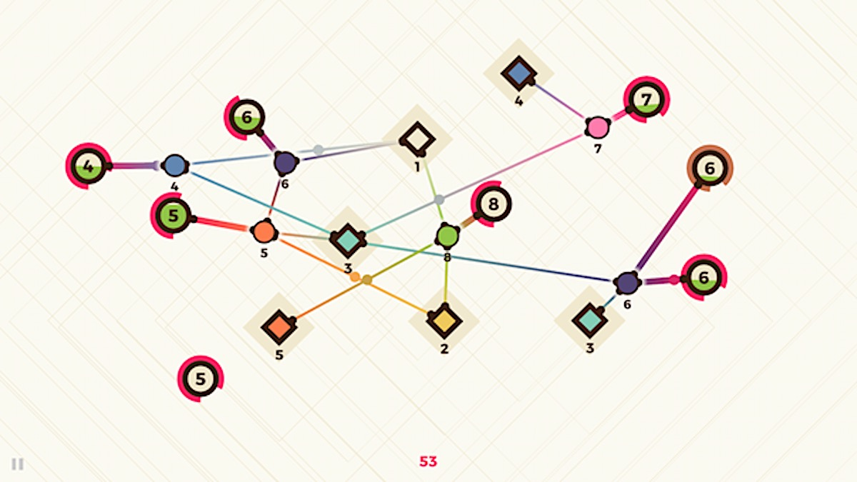 Le casse-tête zen Powernode invite à tisser son réseau sur iPhone et iPad 1