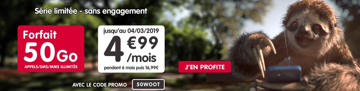 Nouvelle promo forfait NRJ Mobile : illimité + 50 Go à 4,99 €/mois 1