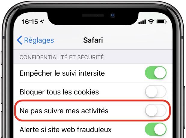 iOS 12.2 retire une des protections contre le suivi de Safari, mais ce n'est pas grave selon Apple 1