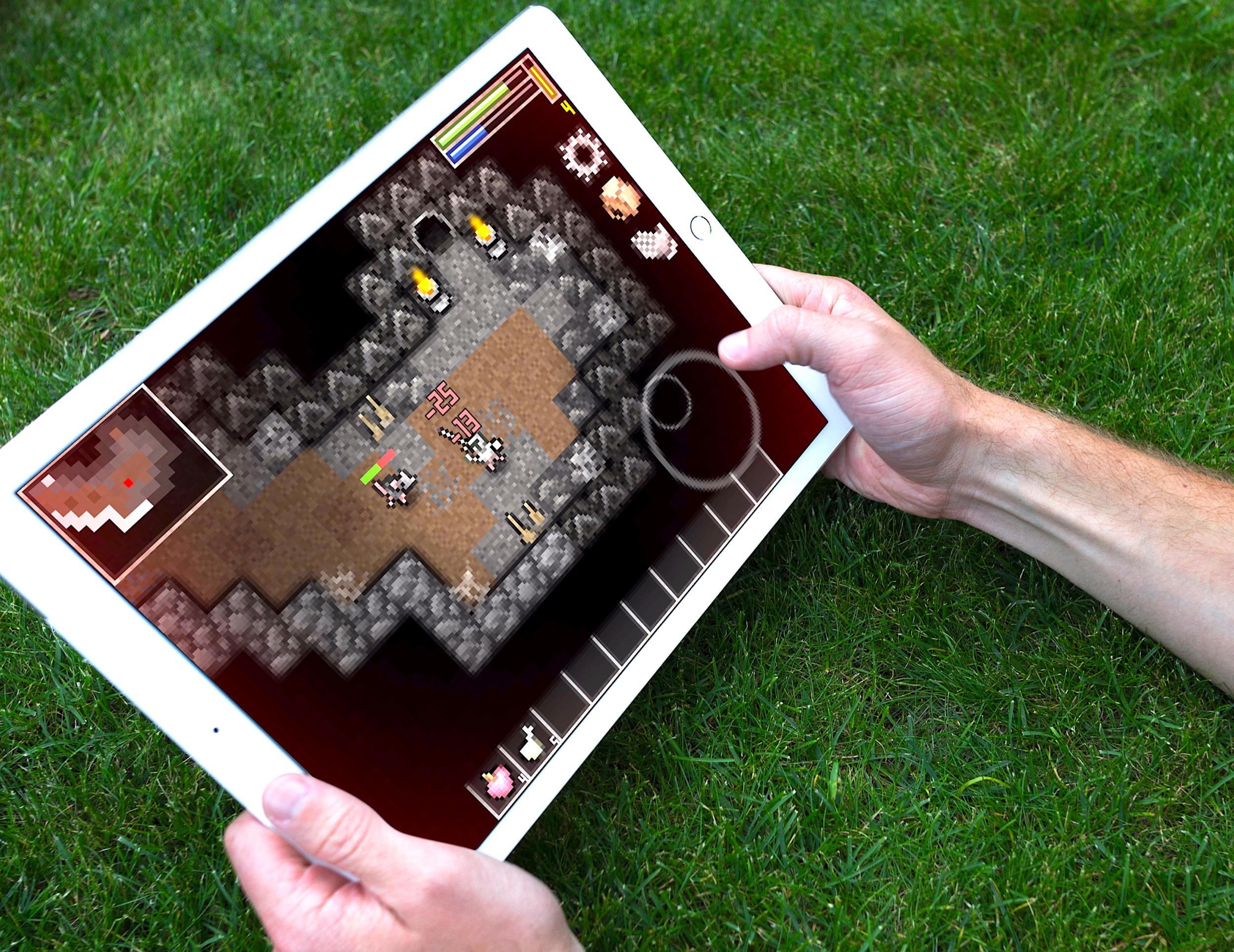 Des pixels, des monstres et des donjons, Throne Quest ressuscite le jeu de rôle d'antan, sur iPhone, iPad 1