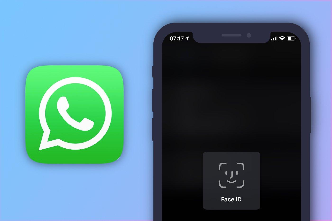 WhatsApp et Face ID