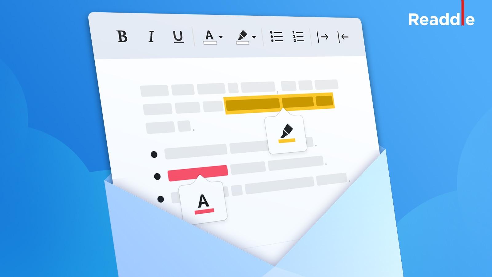 Des nouveautés pour l'édition de mails enrichis pour Spark sur iOS et Mac 1