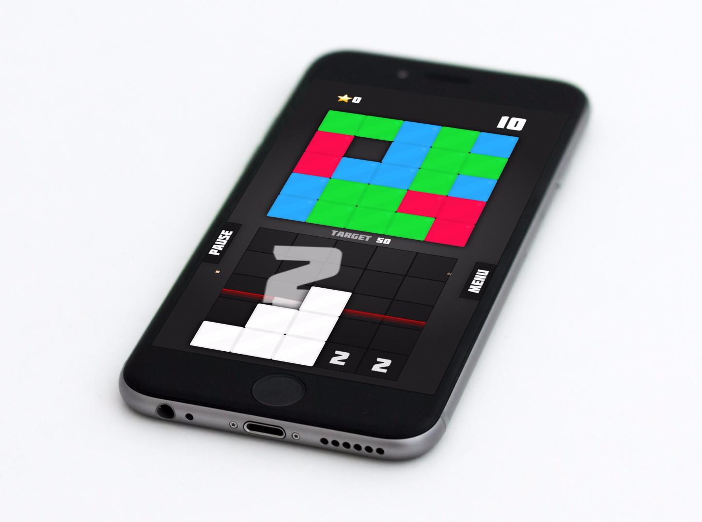 Test de Block Dropping Blitz : mélange original de Tetris et puzzle glissant, sur iPhone, iPad 1