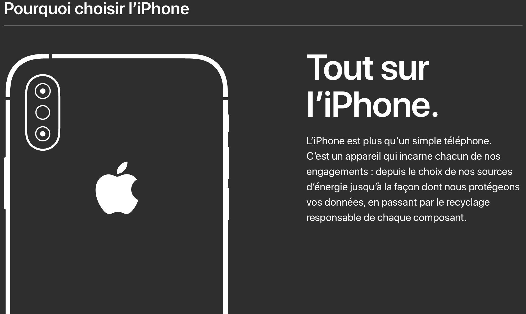 Vie privée et environnement : Apple réaffirme ses choix en images et en français 1