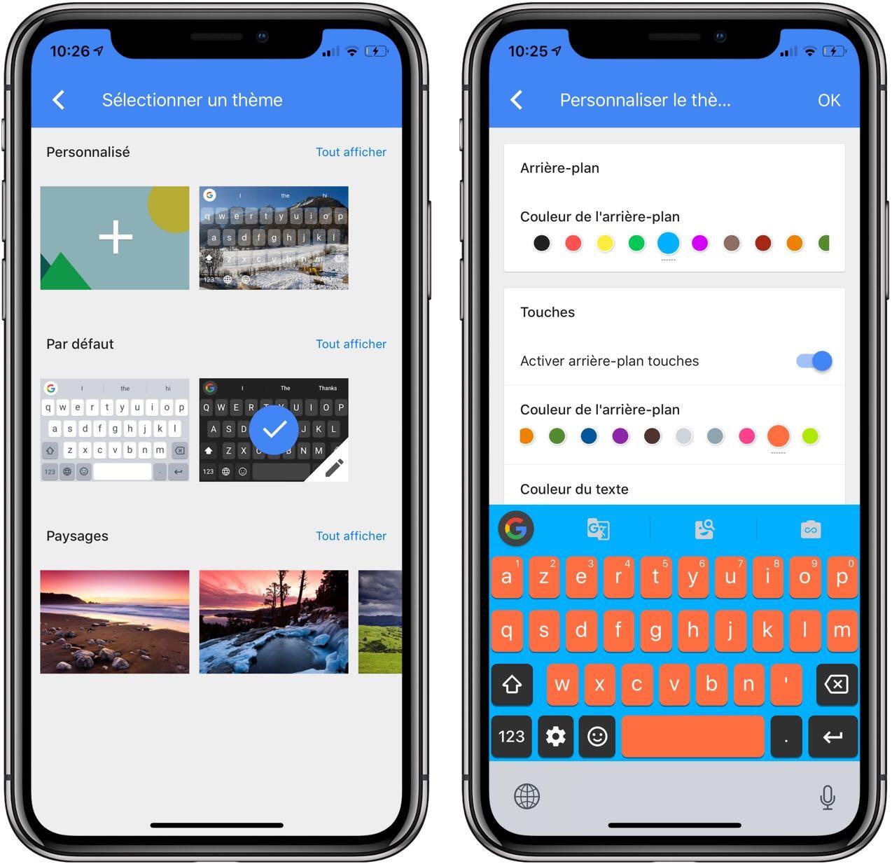 GBoard : le clavier iPhone tiers de Google prend des couleurs en passant à la V2 1