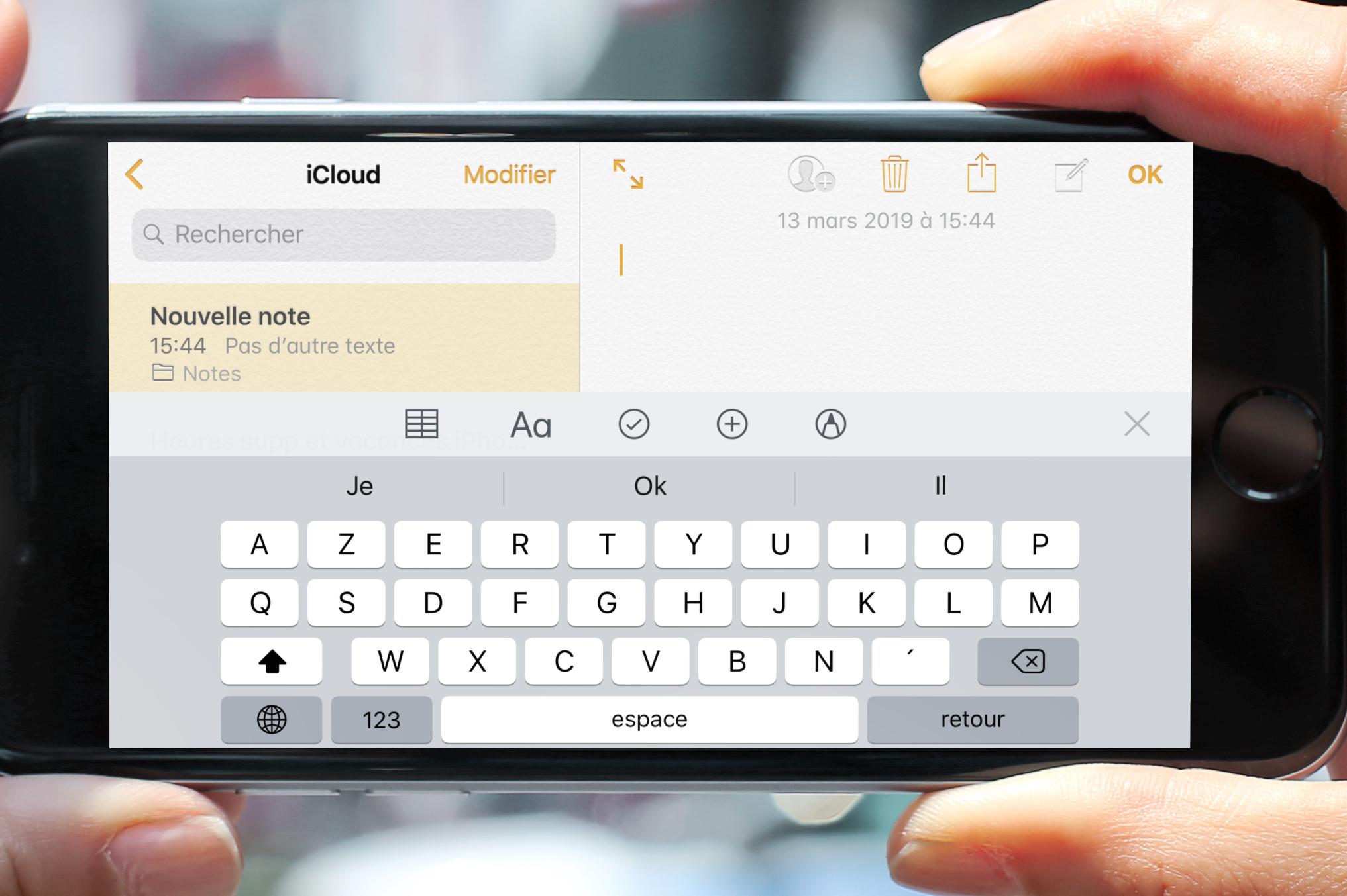 """iOS en pratique : comment retirer le bouton """"Micro"""" du clavier iPhone virtuel 1"""