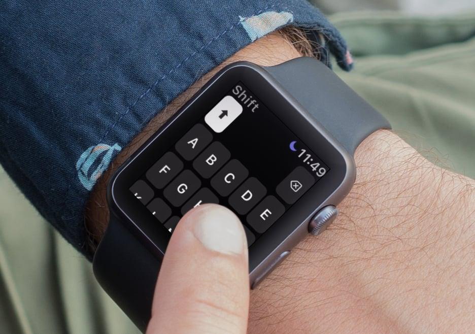 Shift Keyboard : un clavier pour l'Apple Watch, réservé aux gros utilisateurs de messages 1