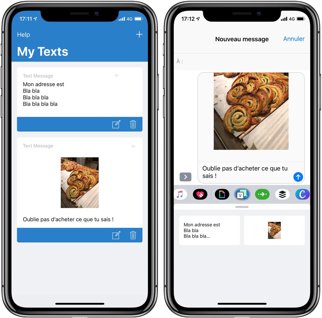 TapText : ses phrases et images préférées à portée de main pour des envois fréquents par Message (gratuit) 1