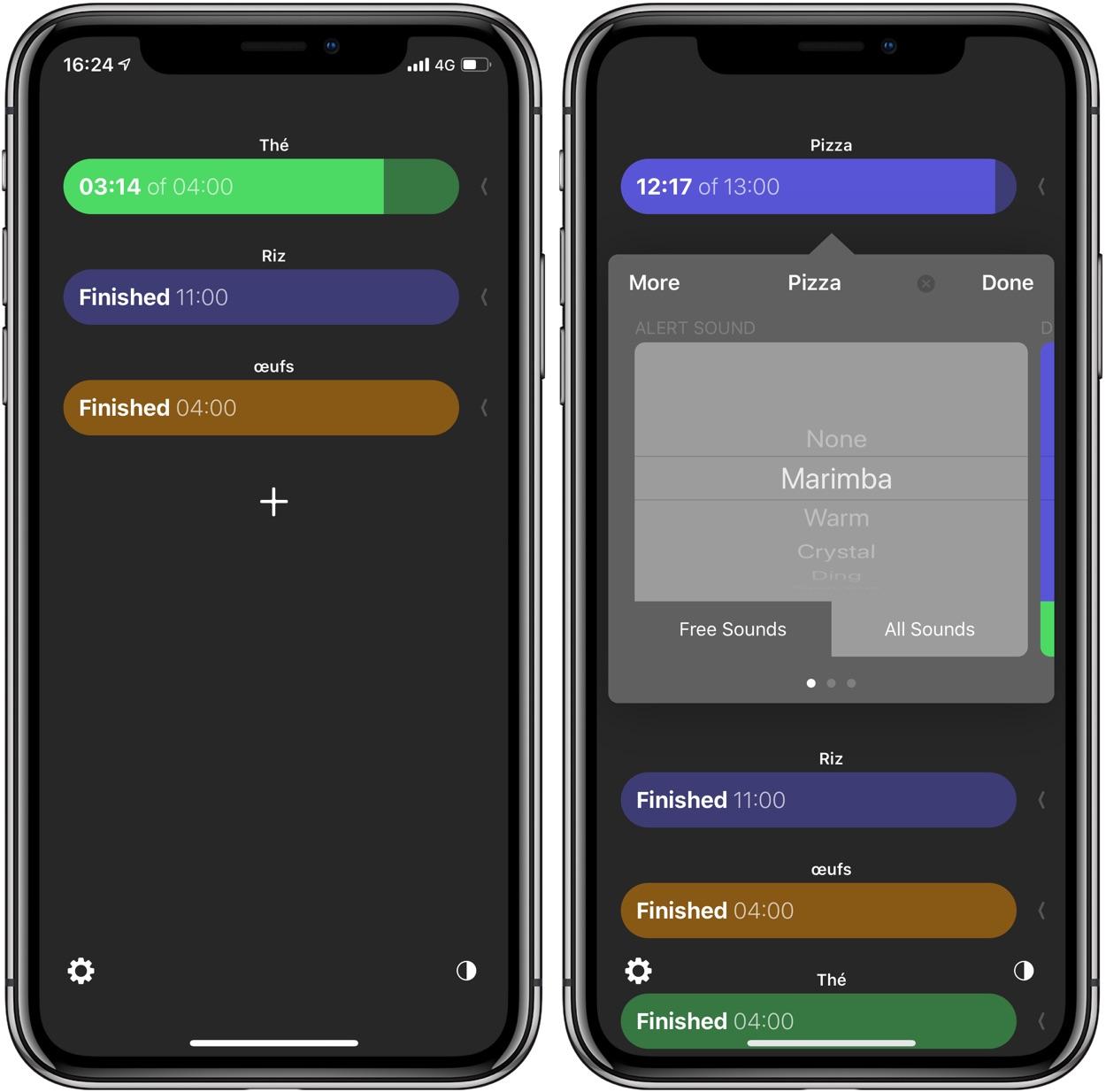 L'app Tidur Timers offre plusieurs minuteurs simultanés à l'iPhone, iPad et l'Apple Watch 1