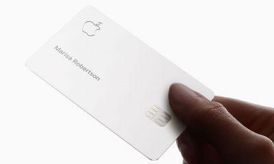 Photo des premières cartes de crédit Apple, avec leur packaging NFC 13