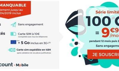 Promo forfait : illimité + 100 Go à moins de 10€/mois chez Cdiscount Mobile 15