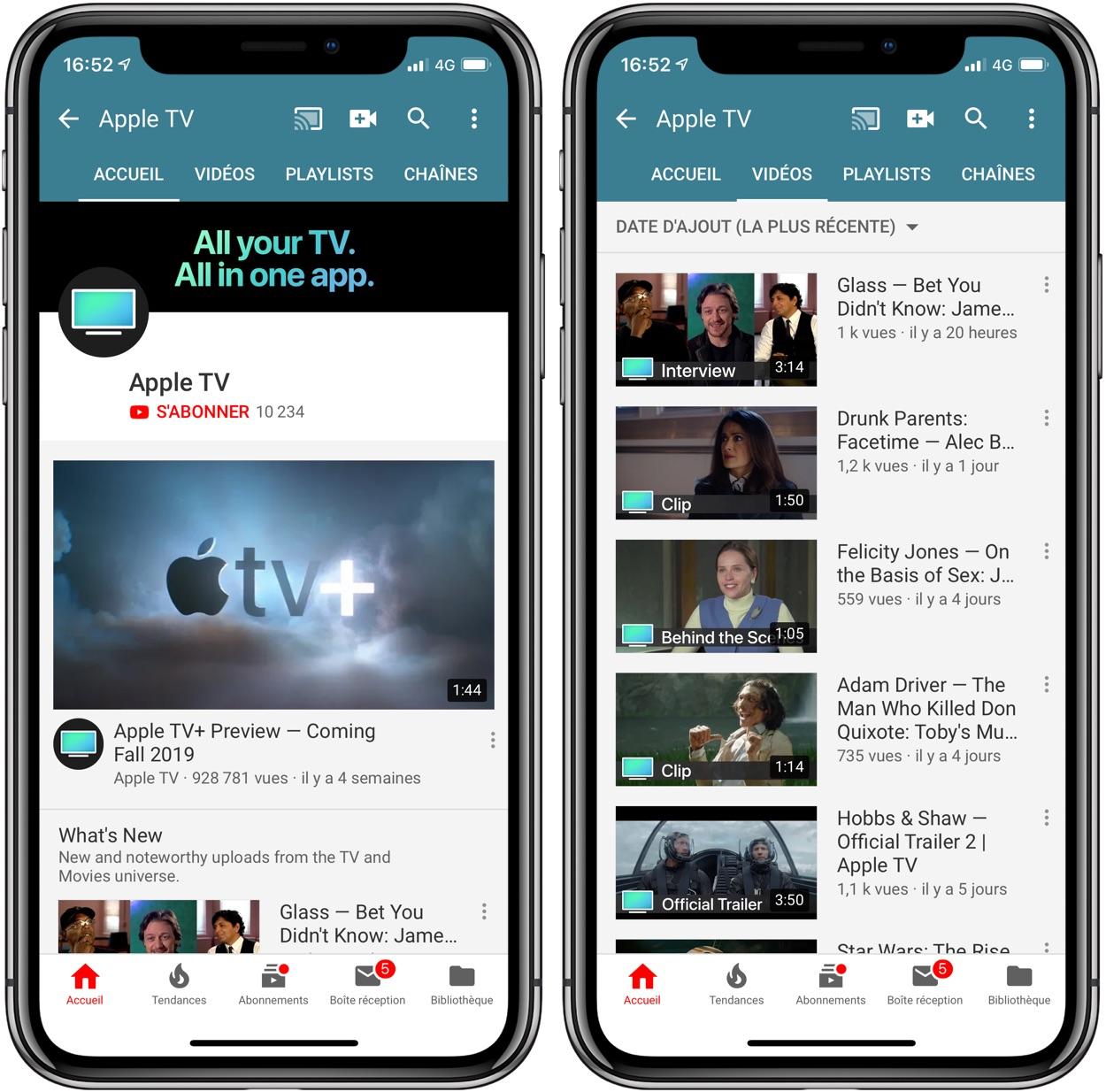 Apple a ouvert une chaine YouTube dédiée à son service de vidéo 1