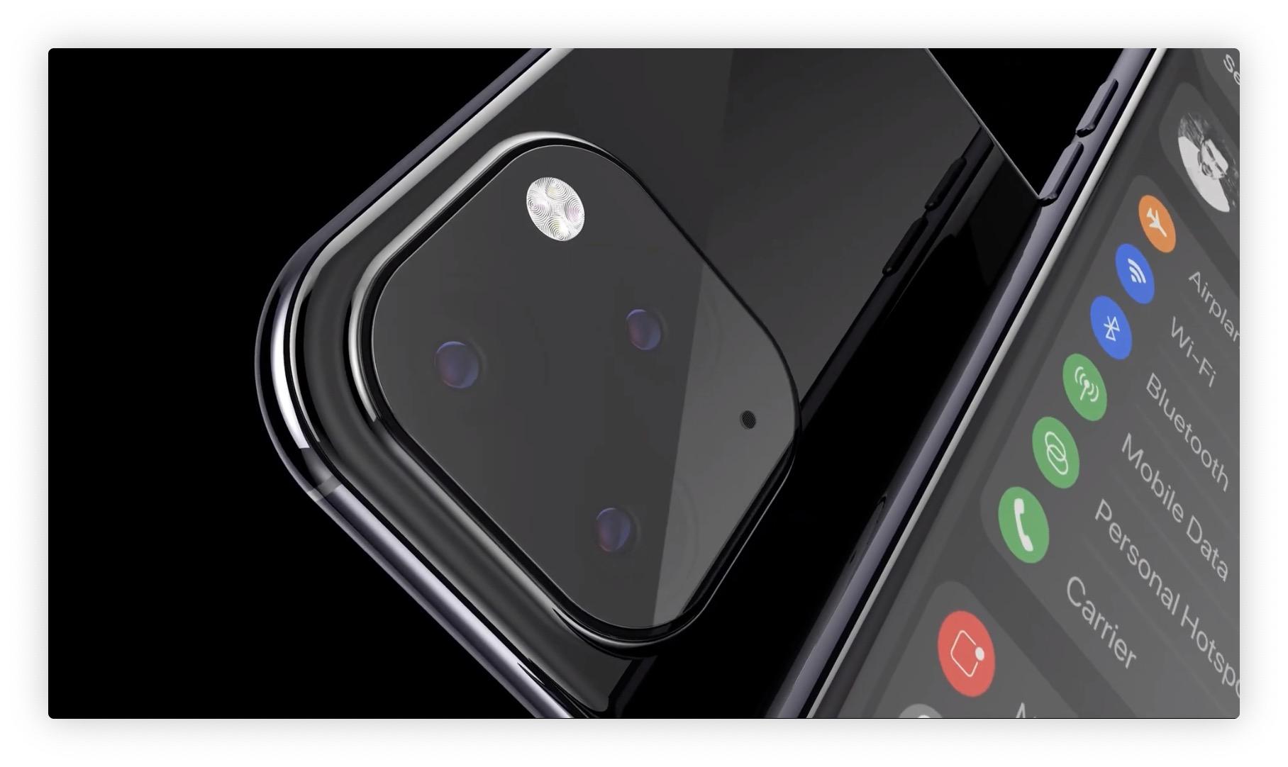 Nouveau concept 3D en vidéo pour imaginer les iPhone 2019 avec mode sombre et autres changements 1
