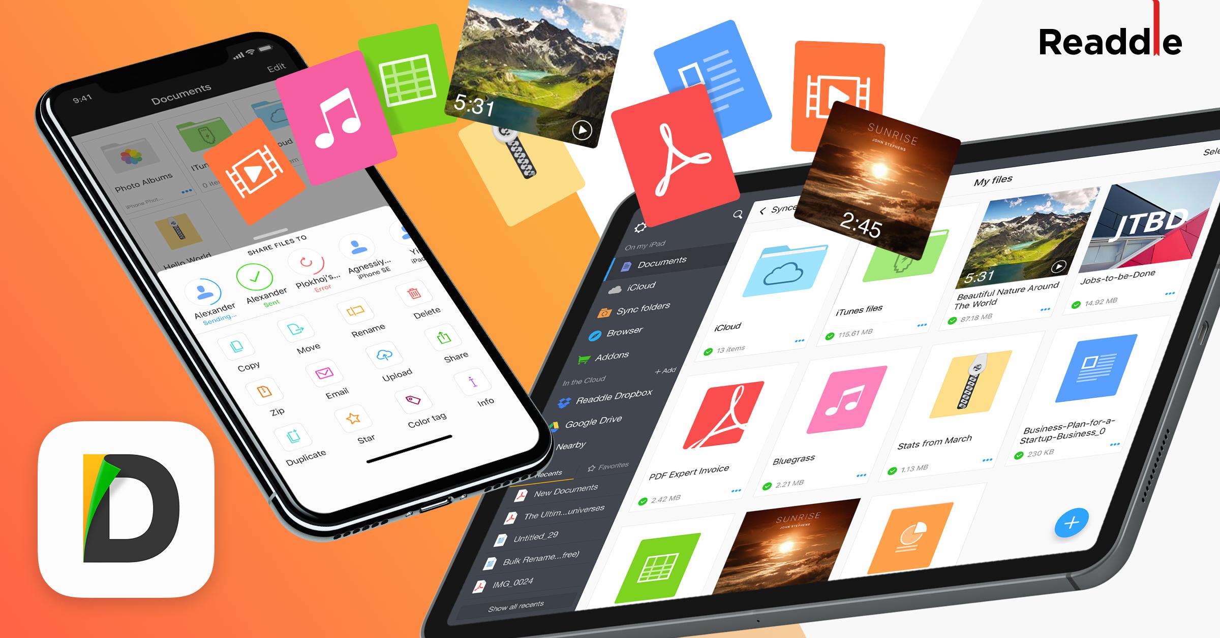 L'app Documents se dote du transfert de fichier entre machines iOS : FileDrop 1