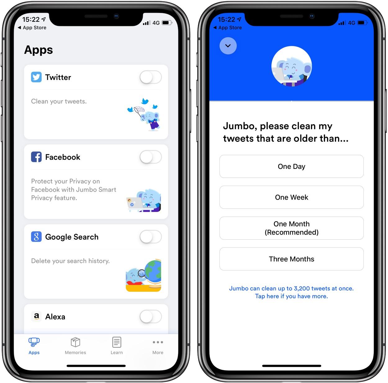 Nouveau : l'app iPhone Jumbo rend vos partages sociaux evanescents ! 1