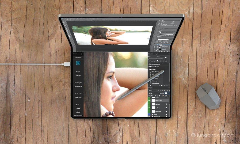 Entre le Mac et l'iPad, un concept d'hybride pliable étonnant, avec souris 1