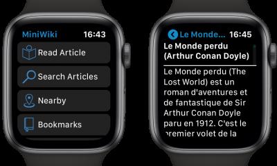 Tout Wikipedia au poignet et ça tient ! Voici MiniWiki pour Apple Watch 25