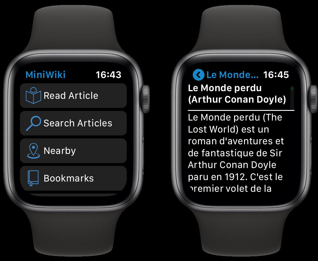 Tout Wikipedia au poignet et ça tient ! Voici MiniWiki pour Apple Watch 1