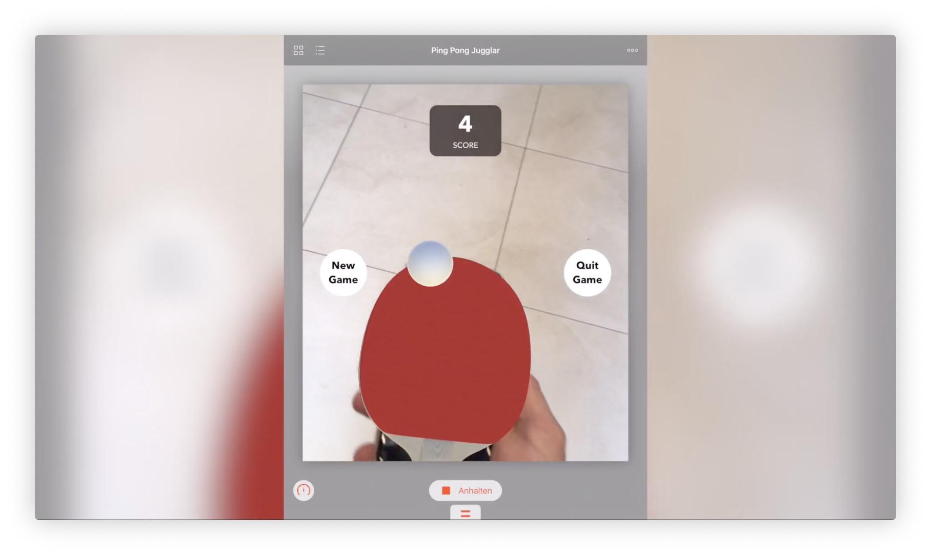 Vidéo : jongler avec une raquette et une balle de ping-pong virtuelles, c'est possible avec ARkit 1
