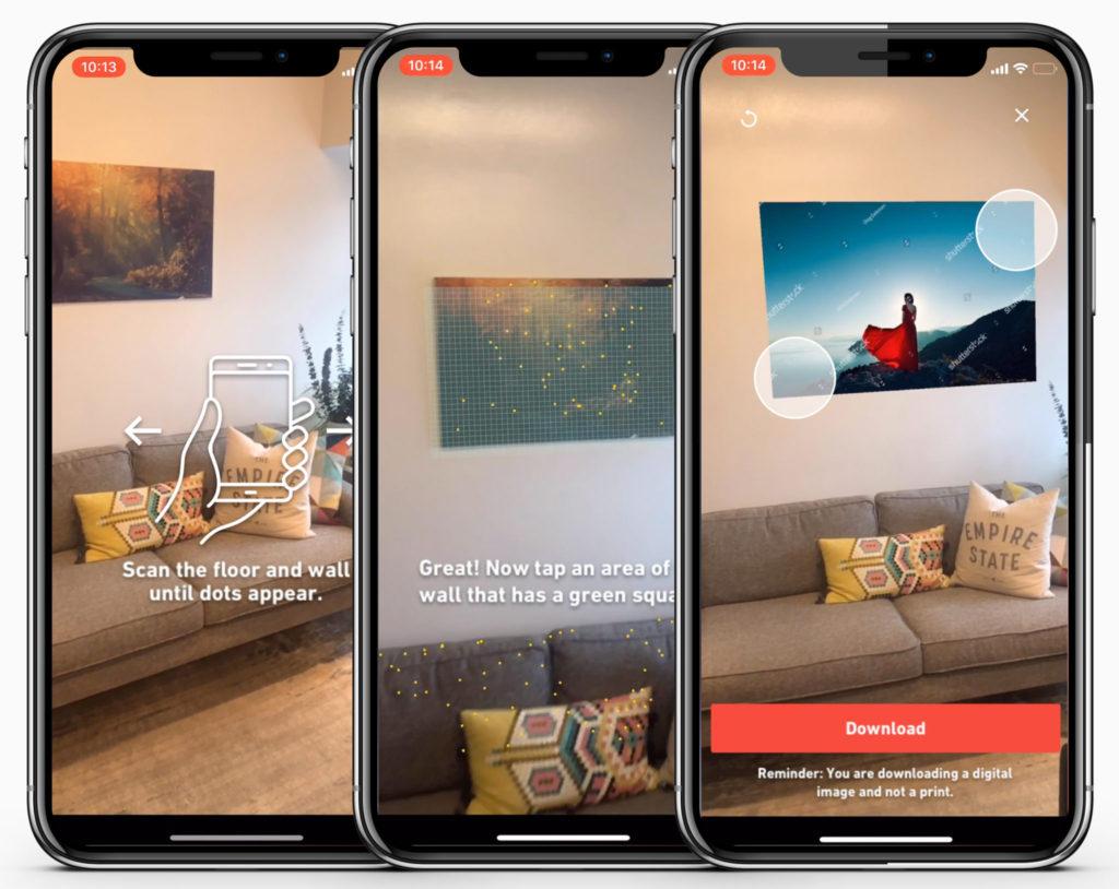 Essayer les images de Shutterstock chez soi grâce à la réalité augmentée 1