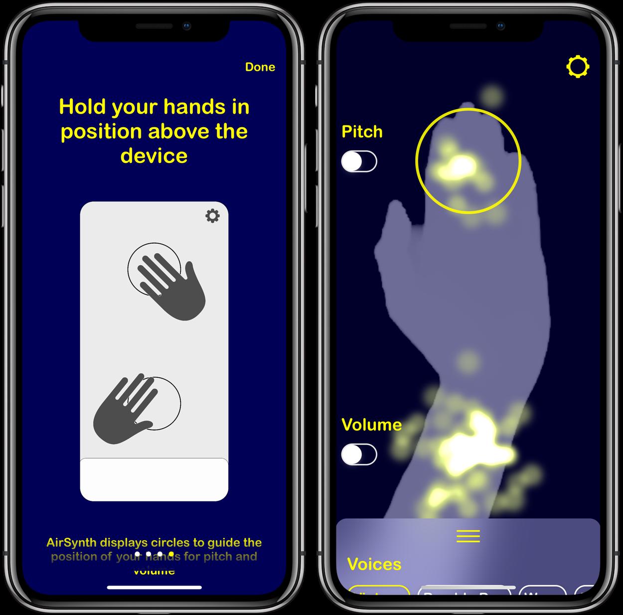 AirSynth : créer des sons avec des gestes de la main sur iPhone, iPad 1