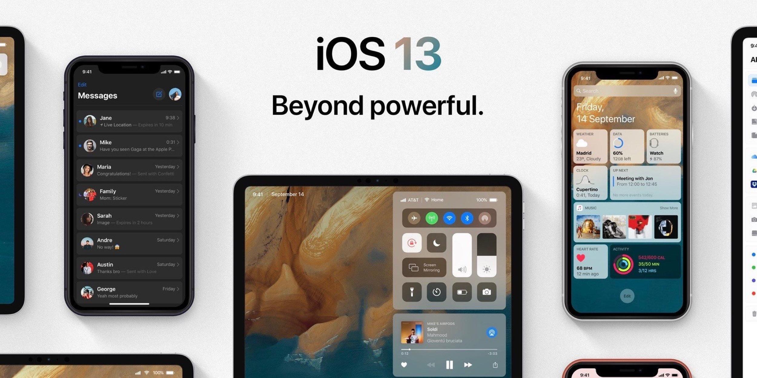 Superbe concept pour tenter de visualiser les changements annoncés pour iOS 13 (et ... plus) 1