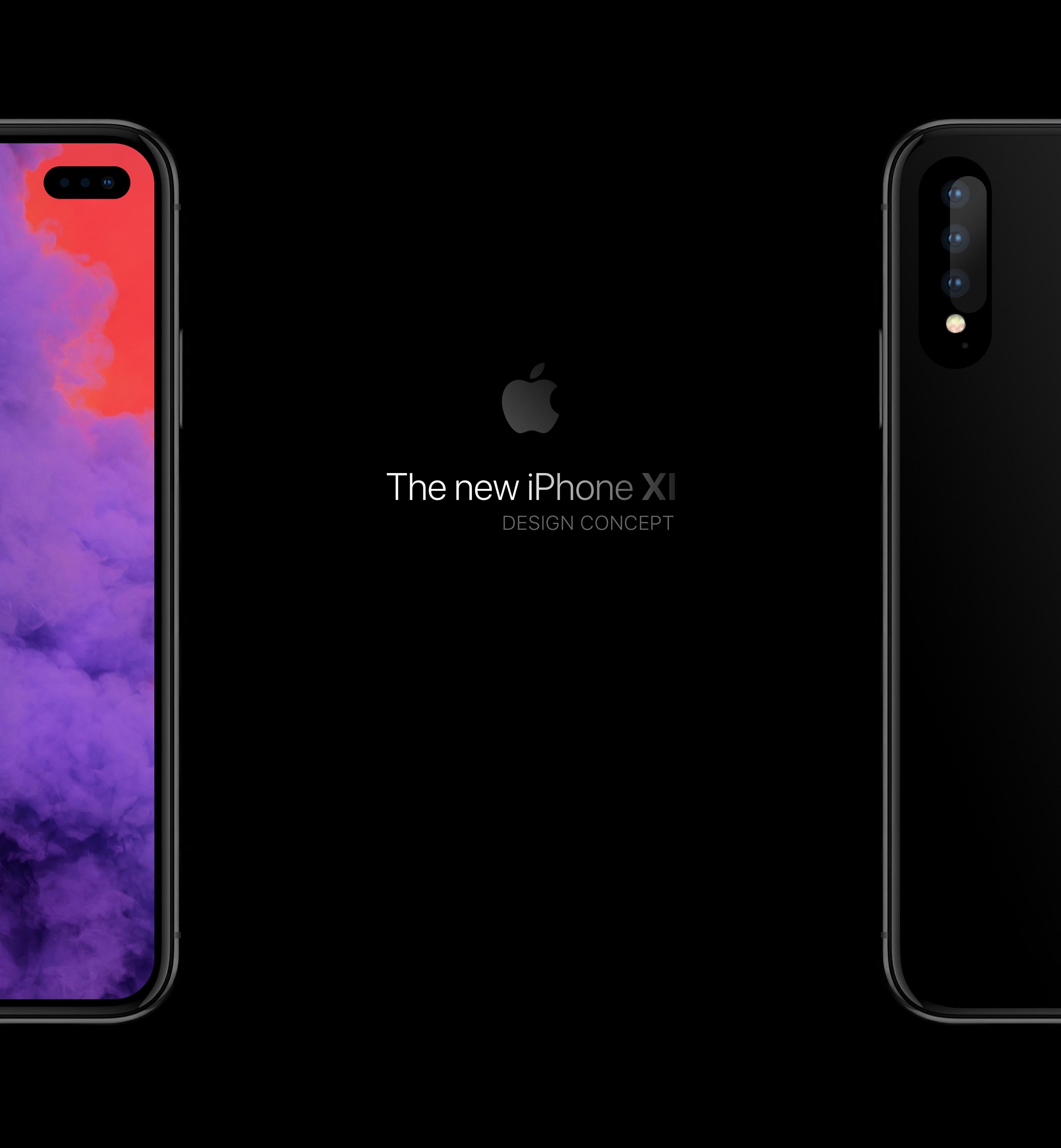 """Et si de prochains iPhone abandonnaient la découpe écran pour un """"trou"""" : concept en images 1"""