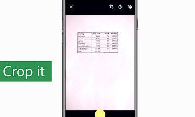 Microsoft ajoute l'import intelligent de tableaux chiffrés à l'aide d'une photo dans Excel iPhone et iPad 37