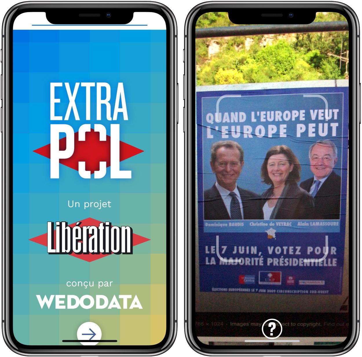 """Extrapol : une appli iPhone qui fait """"parler"""" les affiches de la campagne européenne 1"""