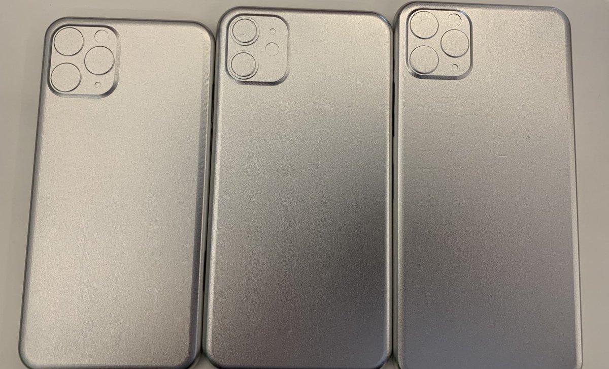 Des empreintes d'iPhone 2019 en alu confirment la présence du gros carré photo au dos 1