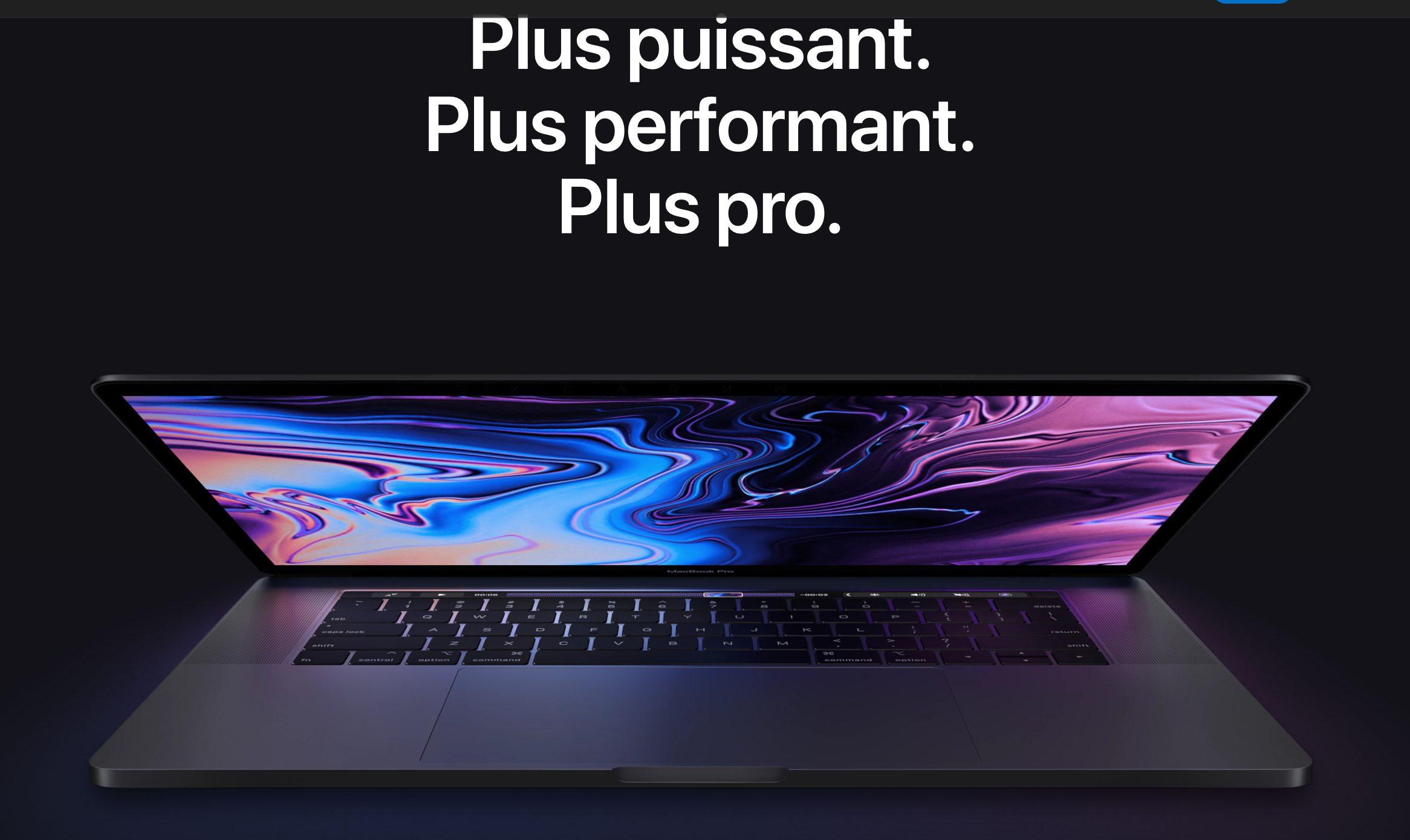 """Apple lance de nouveaux MacBook Pro plus puissants avec nouveau clavier """"papillon"""" et programme de réparation gratuite 1"""
