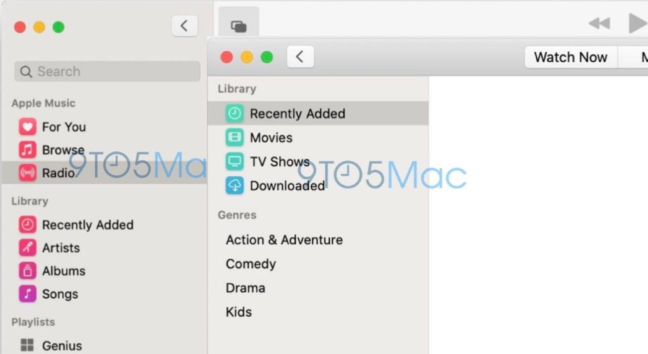 Premières captures d'écran des nouvelles applis Music et TV pour Mac, avant la conférence de lundi 1