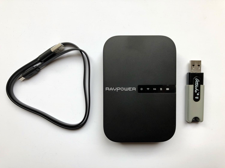 En photos avant son test : le tout nouveau FileHub, de RavPower : lecteur de clé USB sans-fil, routeur, transfert de données, etc.... 1