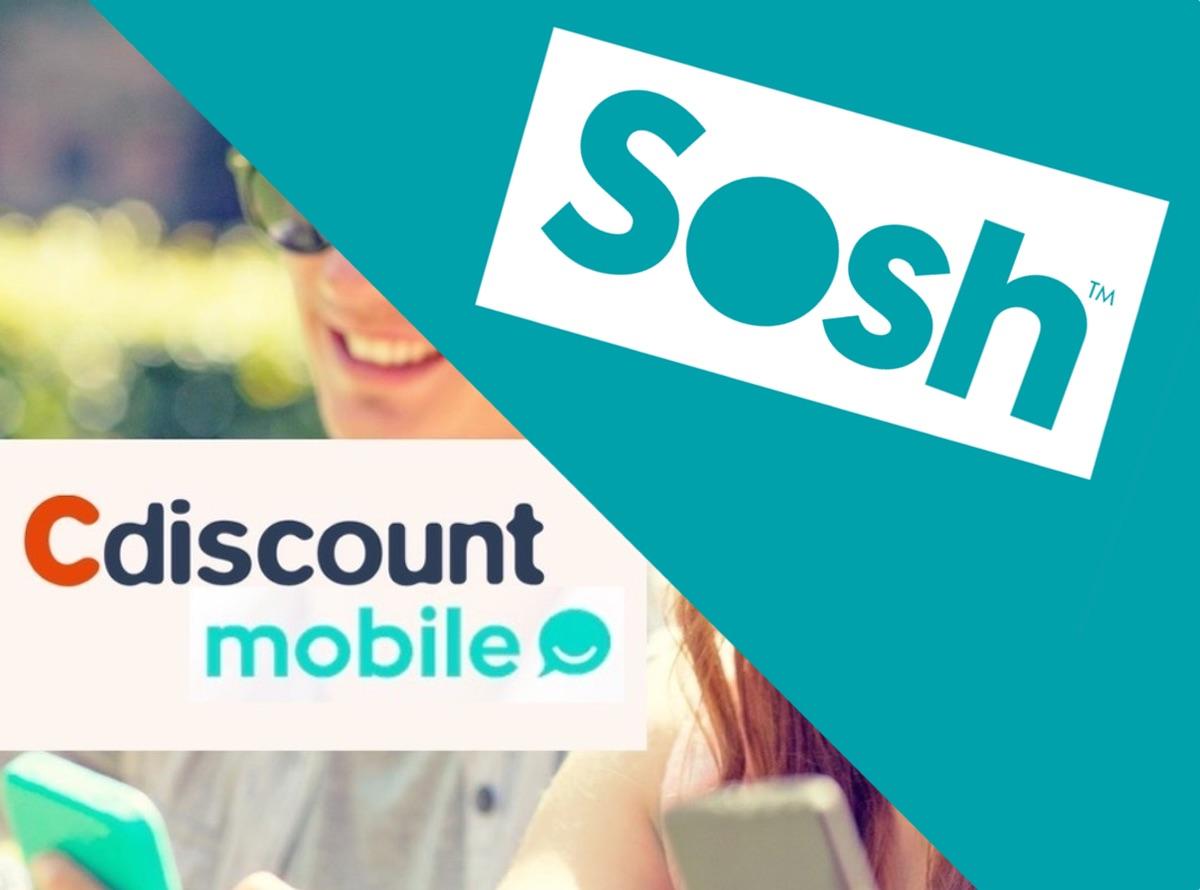 Promos forfaits : illimité + 50 Go chez Sosh et 100 Go chez Cdiscount Mobile pour 9,99 € mensuels 1
