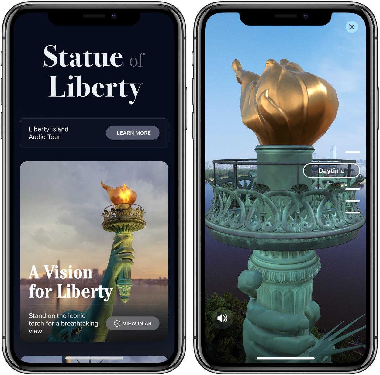La statue de la Liberté vient à vous grâce à une appli iPhone en Réalité Augmentée 1