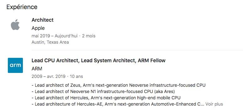 Apple recrute un spécialiste expérimenté des CPU 2