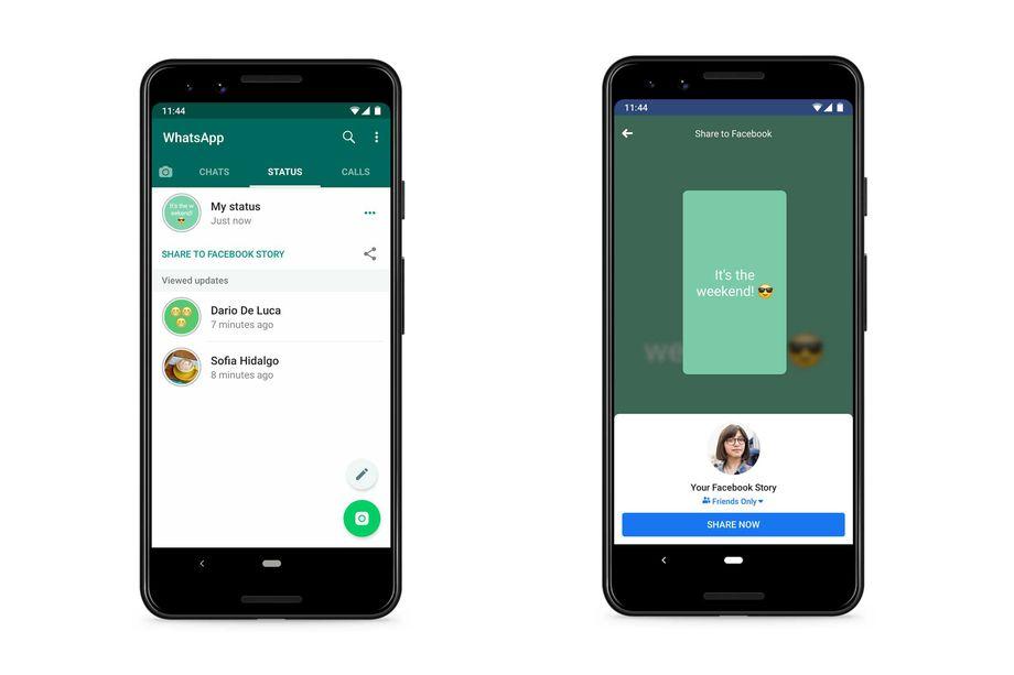 À venir sur WhatsApp: le partage de statuts vers Facebook et Instagram? 1