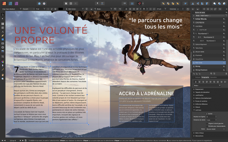 Affinity lance sa solution de publication sur Mac 1