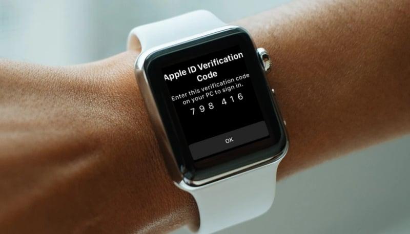 Avec watchOS 6, le code de l'identification à deux facteurs arrive sur l'Apple Watch 1