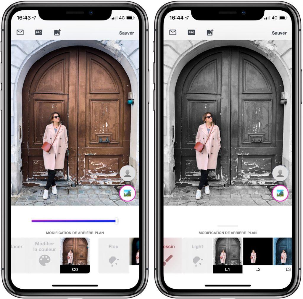 BG: du détourage et des retouches photo façon Photoshop sur iPhone 2